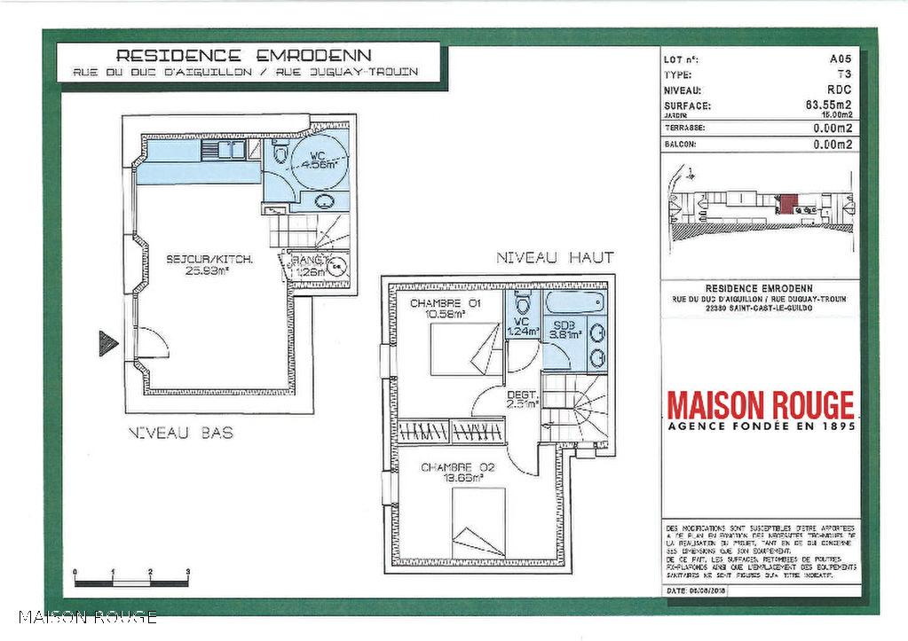 Appartement Neuf - Saint Cast Le Guildo  3 pièce(s) 63.55 m2