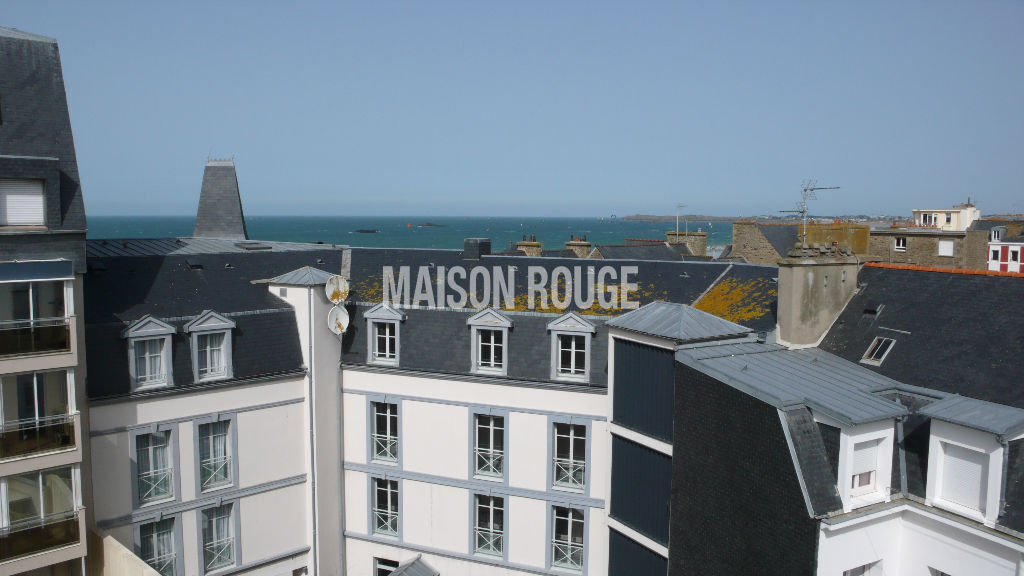 Appartement Saint-Malo Courtoisville Sillon - T6 duplex dernier étage - Vue mer - 122 m²