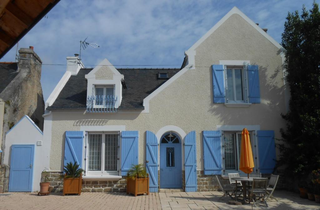 Maison Belz 6 pièces proche RIA d'ETEL 3 CHAMBRES TERRAIN de 540m² dépendance  et préau