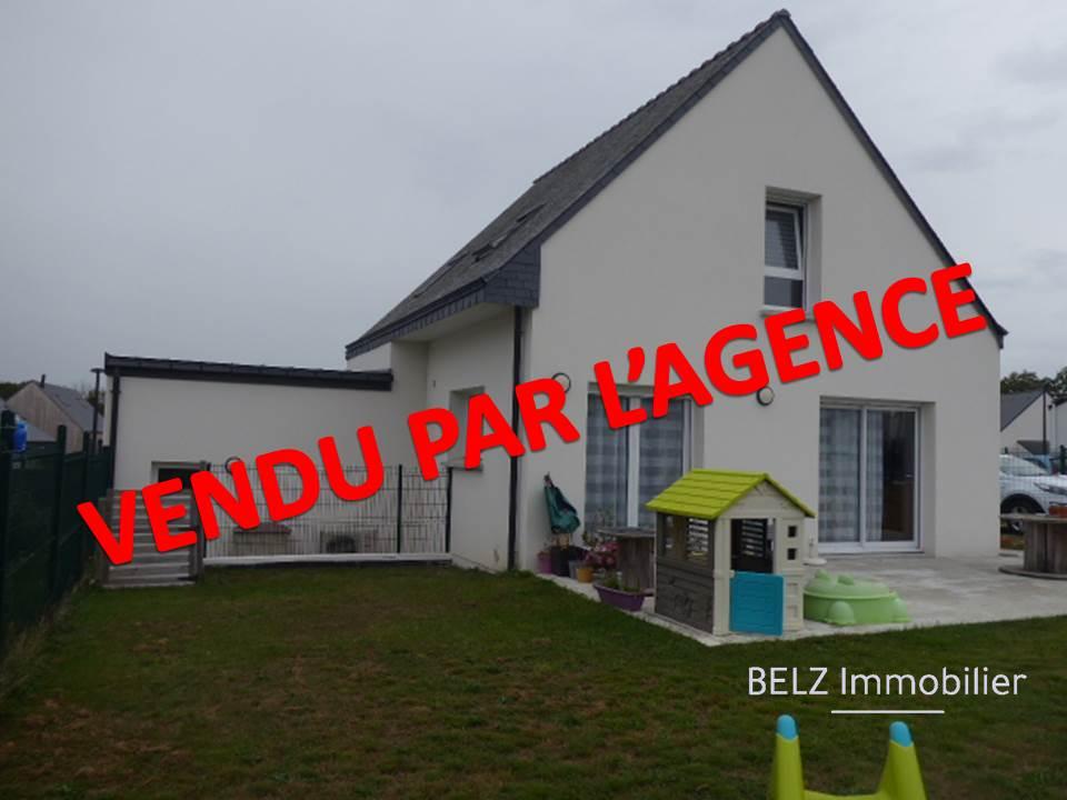 Belz 56550 RIA d'ETEL MAISON CONTEMPORAINE  de 2018 3 chambres dont 1 en RDC  GARAGE TERRAIN de 485m²