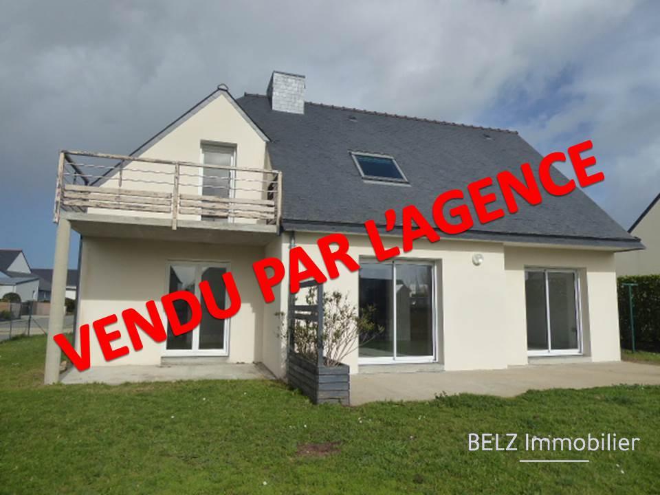 Maison Plouhinec 5 pièce(s) 102m² 56680 Ria d'ETEL Maison de 2007 en bon état 4 chambres dont 1 en RDC terrain 491m²