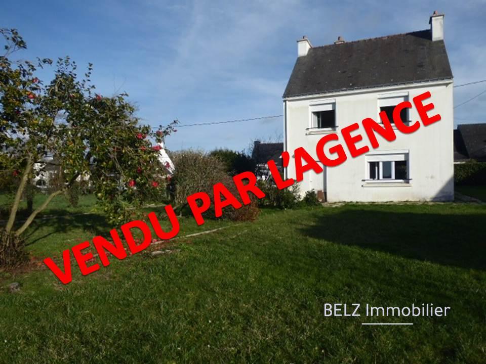 Belz 56550 Maison de 1961 avec JOLIE VUE déagée sur la Rivière d'ETEL sur terrain de 1000m² clos avec garage et dépendance