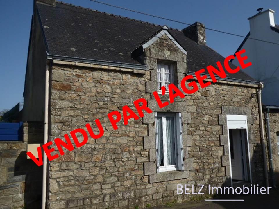 EXCLUSIVITE 56690 MORBIHAN SUD  NOSTANG Maison de pays en pierre à rénover avec terrain de 189m² attenant Garage et dépendance en pierre