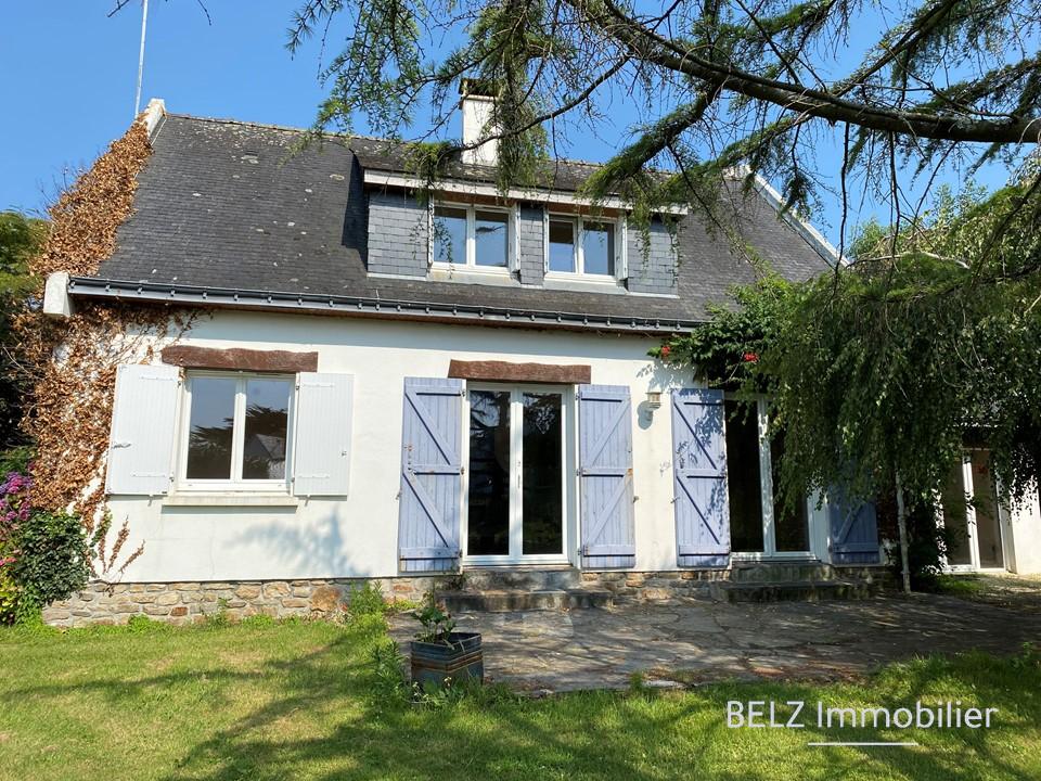 Morbihan Sud Maison Belz 6 pièces 56550  4 chambres dont 1 en rdc GARAGE et TERRAIN de 1540m²