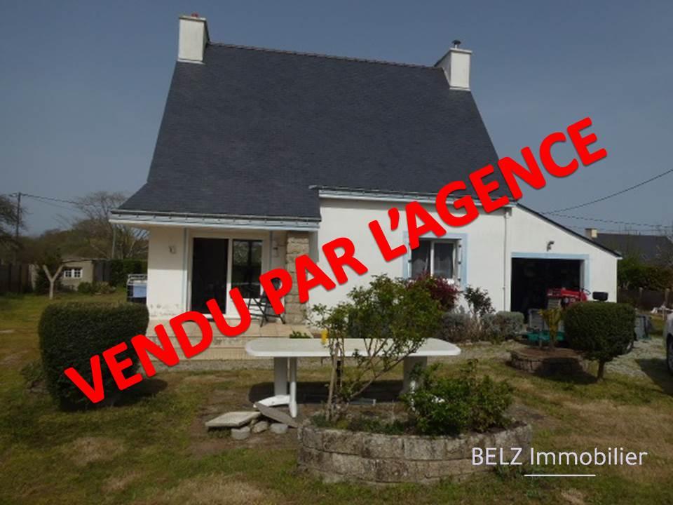 Exclusivité Belz 56550 Maison traditionnelle de 3 chambres dont 1 au rdc sur 1517m² de terrain clos avec dépendance