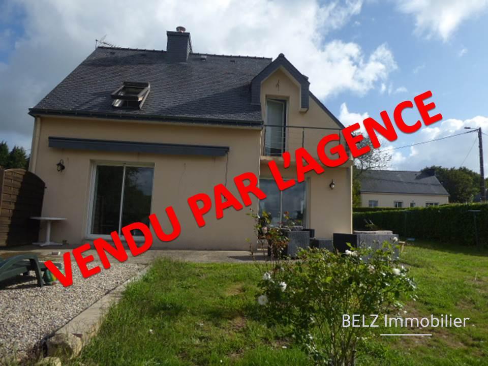 Entre Lorient et Vannes, Maison 56690 Landaul 105m² en bon état 4 chambres sur  TERRAIN 2705m²