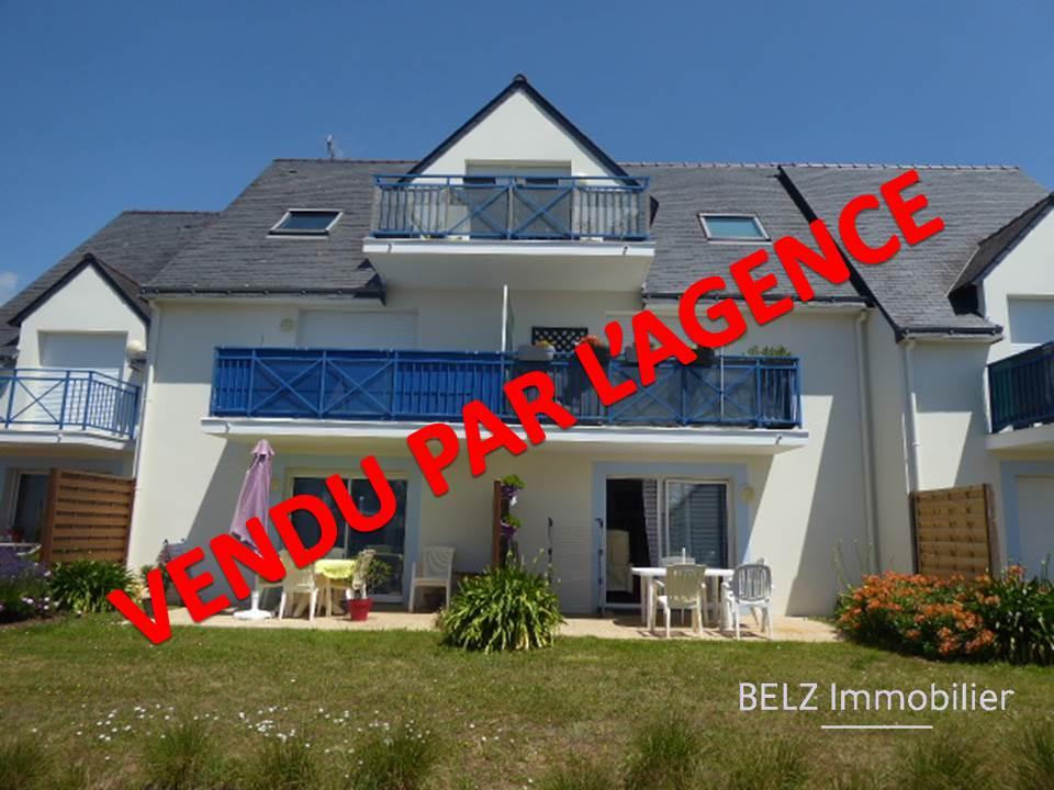 56410 Erdeven Proche commerces Appartement  2 pièce(s) avec terrasse garage et cellier Vendu avec locataire