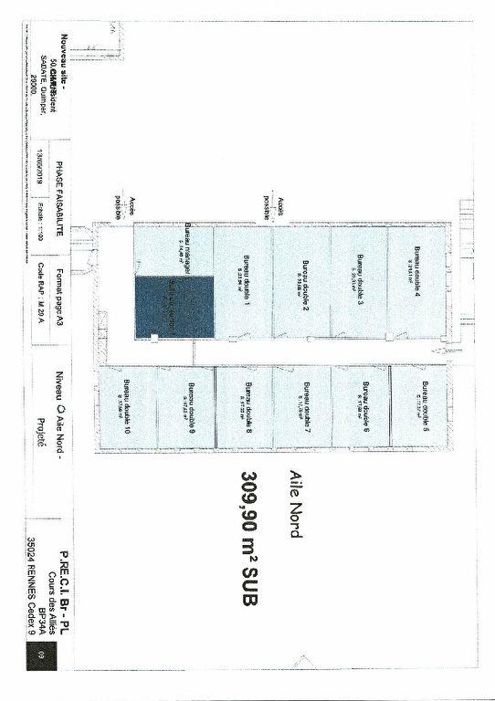 À LOUER  un plateau de bureaux de 310 m² situé au centre d'affaires de Creac'h Gwen 29000 QUIMPER