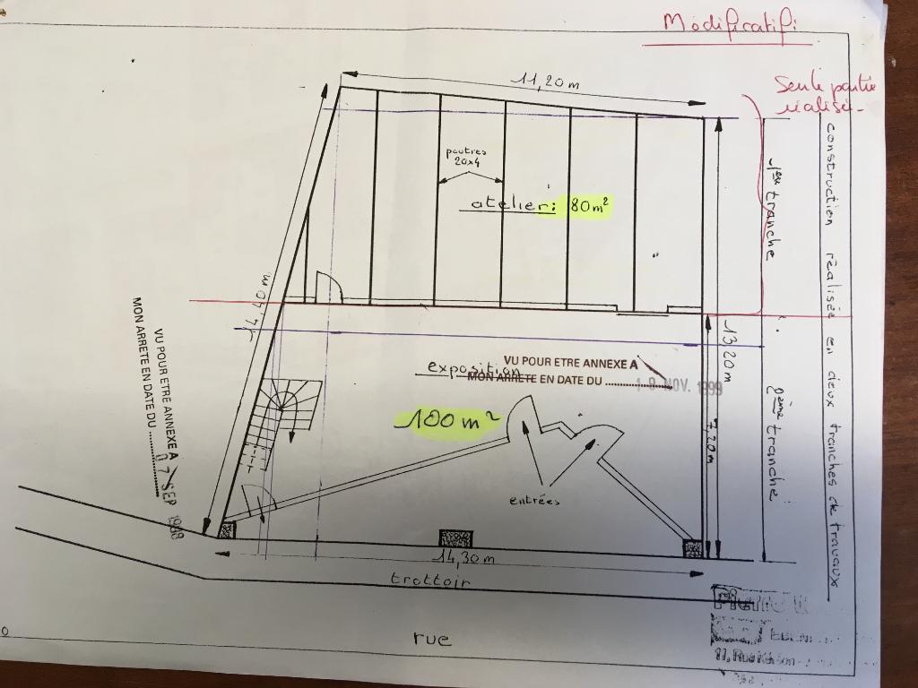 A vendre un local d'activité de 80 m² avec possibilité de 180 m² 29120 Pont l'Abbé