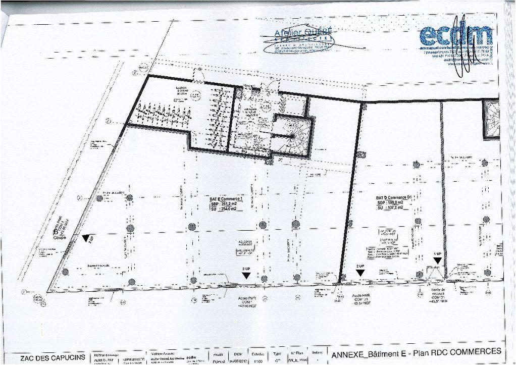 Local commercial Brest 261 m2- Plateau des Capucins