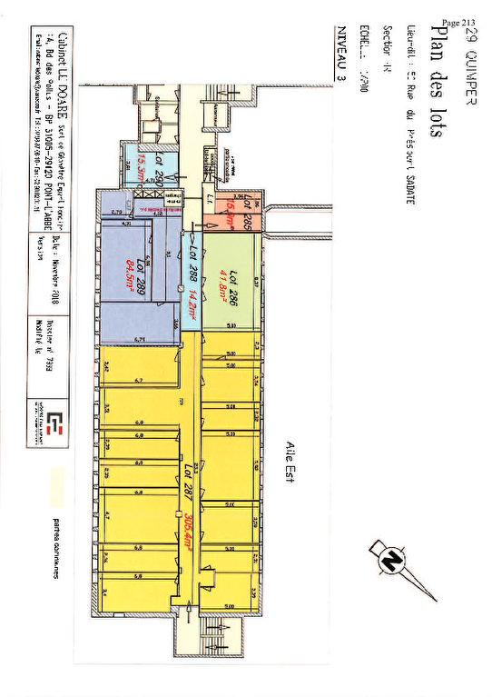 A louer un  bureau de 42 m² possibilité de location occasionnel centre d'affaire de Creac'h Gwen -Quimper 29000 ,