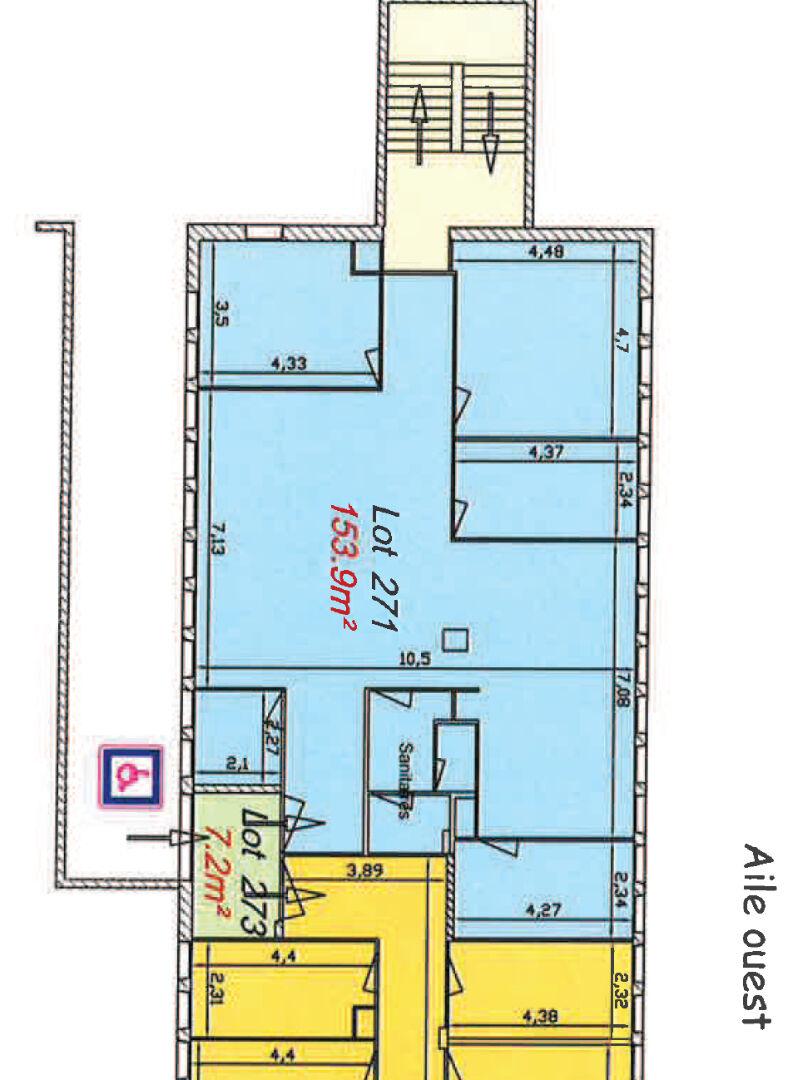 A louer un plateau de bureau de 133 m²  centre d'affaire de Creac'h Gwen -Quimper 29000 ,