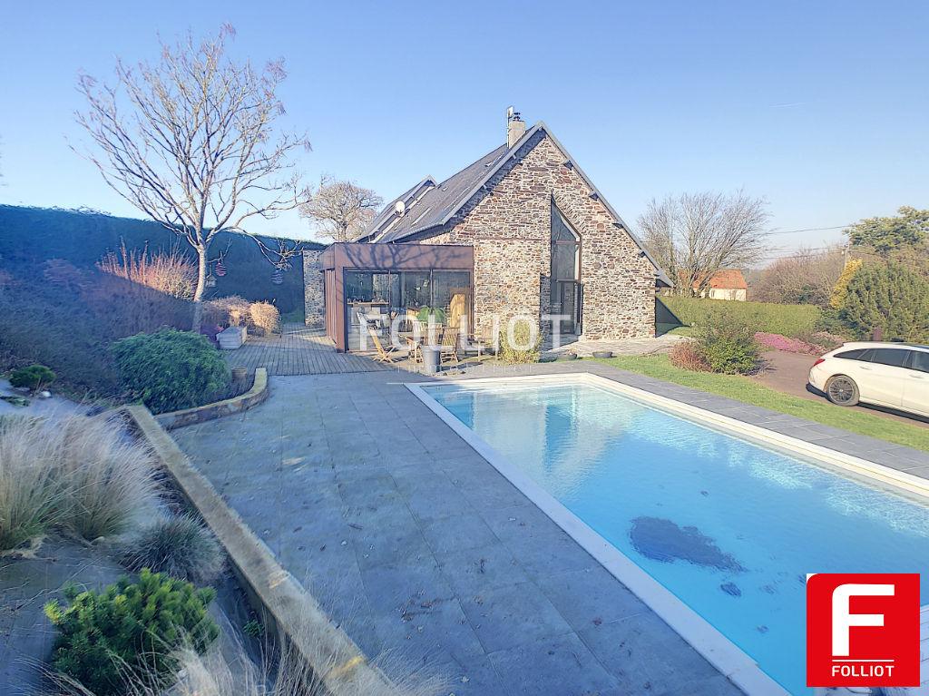 Maison pierres piscine  Saint Ebremond De Bonfosse