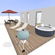 RARE - T2 avec terrasse 30m² Bordeaux Rive Droite 3/5