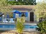 Régusse, charmante villa avec piscine sur 1022 m2 de terrain arboré. 1/17