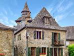 CORREZE. Village of Correze.  Stunning stone house with 5 bedrooms, garage and balcony. 1/18