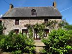 Frontière Ille et Vilaine / Manche - près de Pontorson - Belle maison en pierre avec 3 chambres, une grange en pierre et un gîte séparé à rénover sur 1 acre de terrain. 2/18