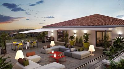 Nouveaute Nestenn Immobilier. Appartement neuf T4 de 96m2 avec 180m2 de terrasse avec vue sur le parc de la Mairie a vendre a Castanet-Tolosan