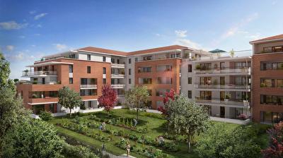 Nouveaute Nestenn Immobilier. Appartement neuf T4 de 92m2 avec 60m2 de terrasse avec vue sur le parc de la Mairie a vendre a Castanet-Tolosan