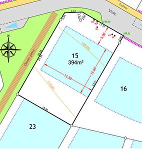 Terrain 394 m2 Trefflean