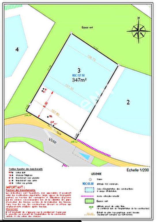 Terrain 347 m2 Trefflean