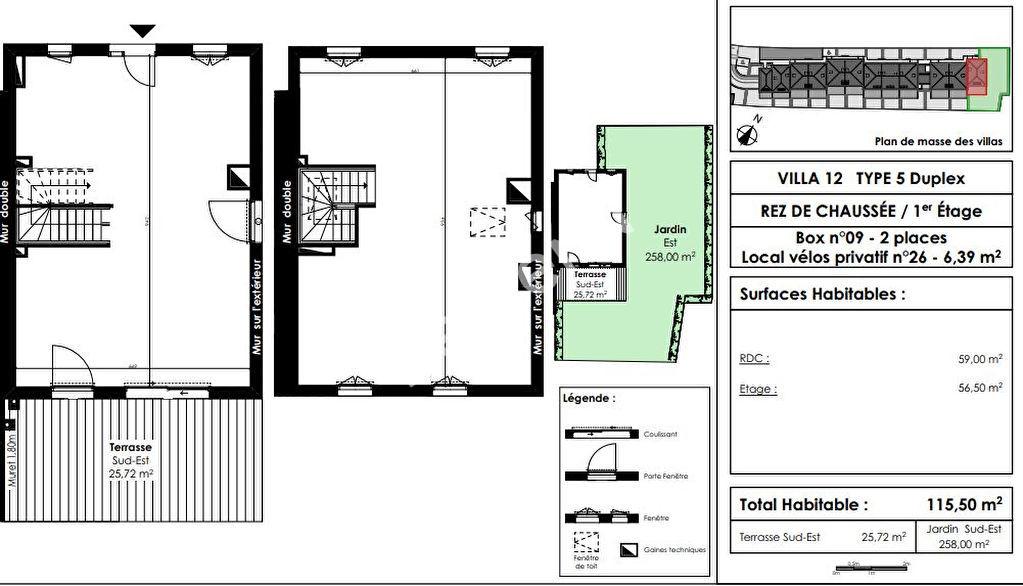 Maison Le Bouscat 5 pièces 112 m2 avec jardin et box
