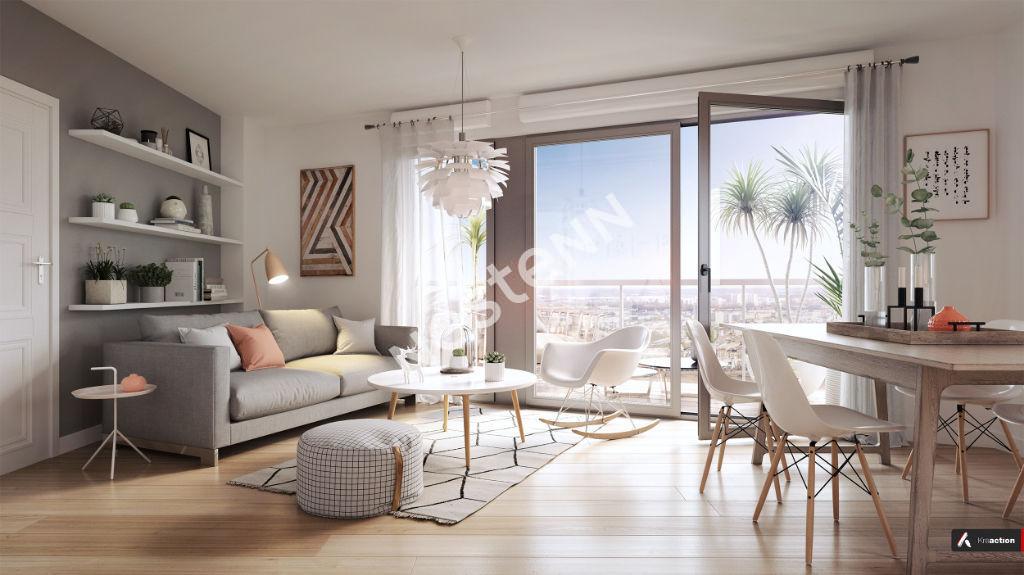Appartement Bordeaux 4 pièces 80.73 m2 avec 2 balcons