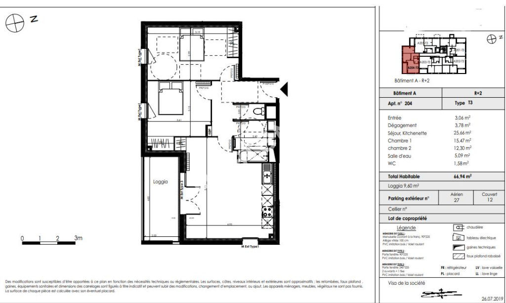 Appartement Blanquefort 3 pièces 67.75 m2