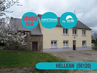 Maison 5 pieces a Hellean (56120) avec grand terrain