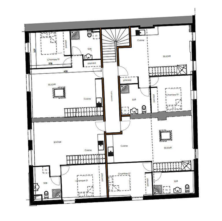 Appartement à Ancenis avec balcon - 2 chambres + place de parking