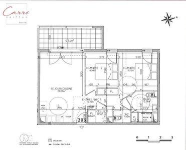 Appartement Bayonne 3 pieces 57.14 m2