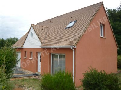 Maison Ecommoy environ 123m2, 6 pieces, 4 chambres dont 1 au rez-de-chaussee, salle de bains et salle d'eau, garage