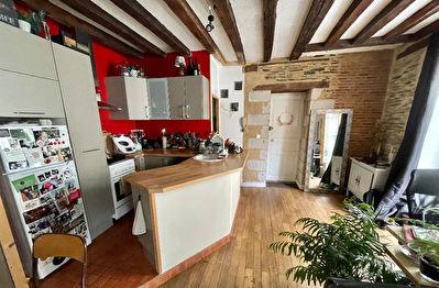Appartement Angers type 2 coeur de doutre. Style ancien. Pierres, poutres, une chambre separee.