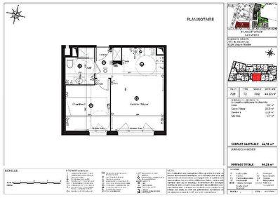 Appartement Jouy Le Moutier 2 pieces 44.13 m2