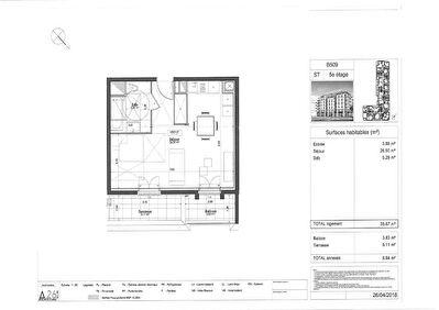 Appartement Pontoise 1 piece 35.67 m2