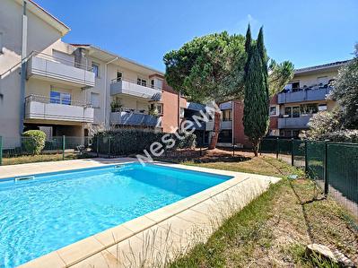 Blagnac appartement T3 residence securisee, piscine, garage ferme