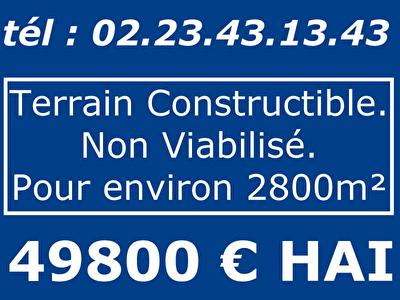 TERRAIN CONSTRUCTIBLE MAURON - 2830 m2