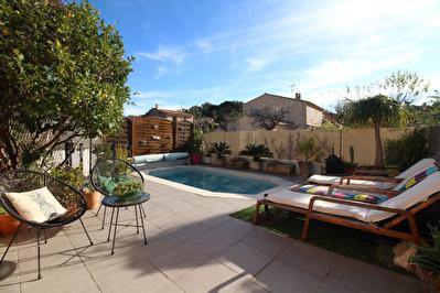 HYERES Costebelle - Villa 165 m2, piscine, garage. 2 appartements