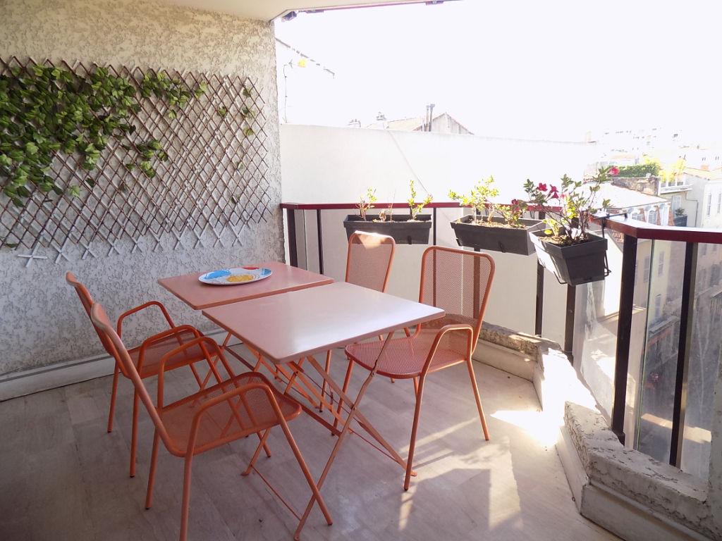 Cannes Centre 2 pièces terrasse cave