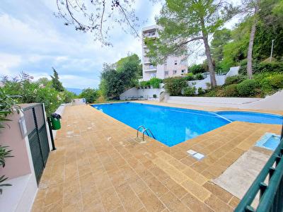 Cannes la Bocca a louer 2 pieces meuble avec terrasse,cave et garage