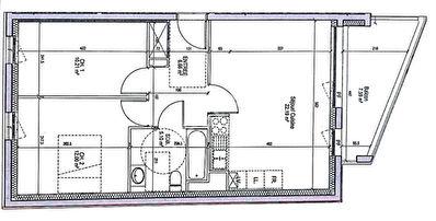 Appartement Saint Max 3 pieces 56.16 m2