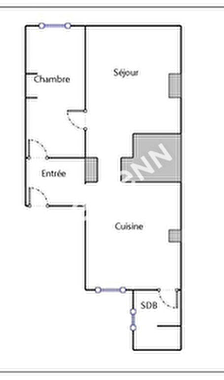 Pont-Saint-Vincent Appartement T2 54m2