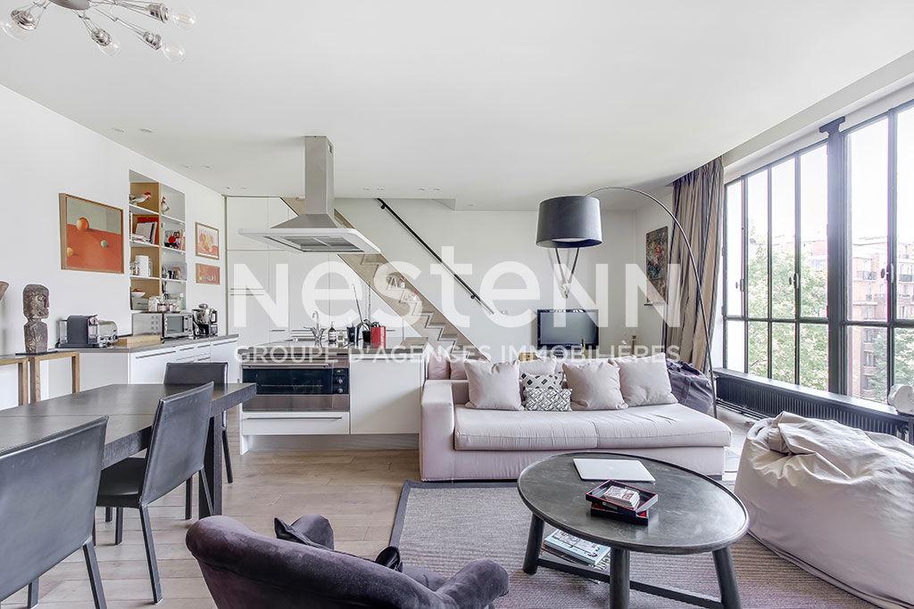 Appartement familial 7 pièces 190 m2 loft atelier d'artiste - 75017