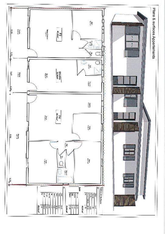 Vend Immeuble de 3 lots une rentabilité de 7.4% à St_André