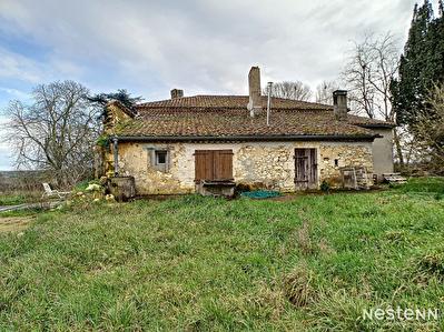 A vendre ancienne ferme viticole avec dependances a mi-chemin entre Condom et Eauze sur une parcelle d'environ 1,5 hectare.