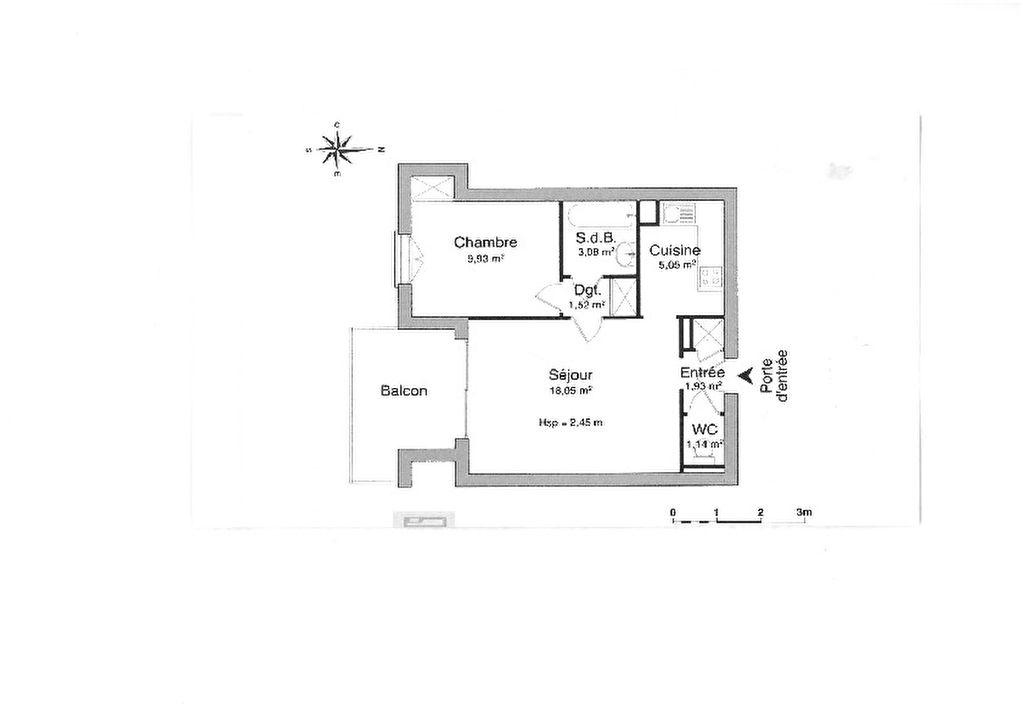 Appartement ANTIBES Juan Les Pins 2 pièces 40.94m² terrasse cave standing option garage