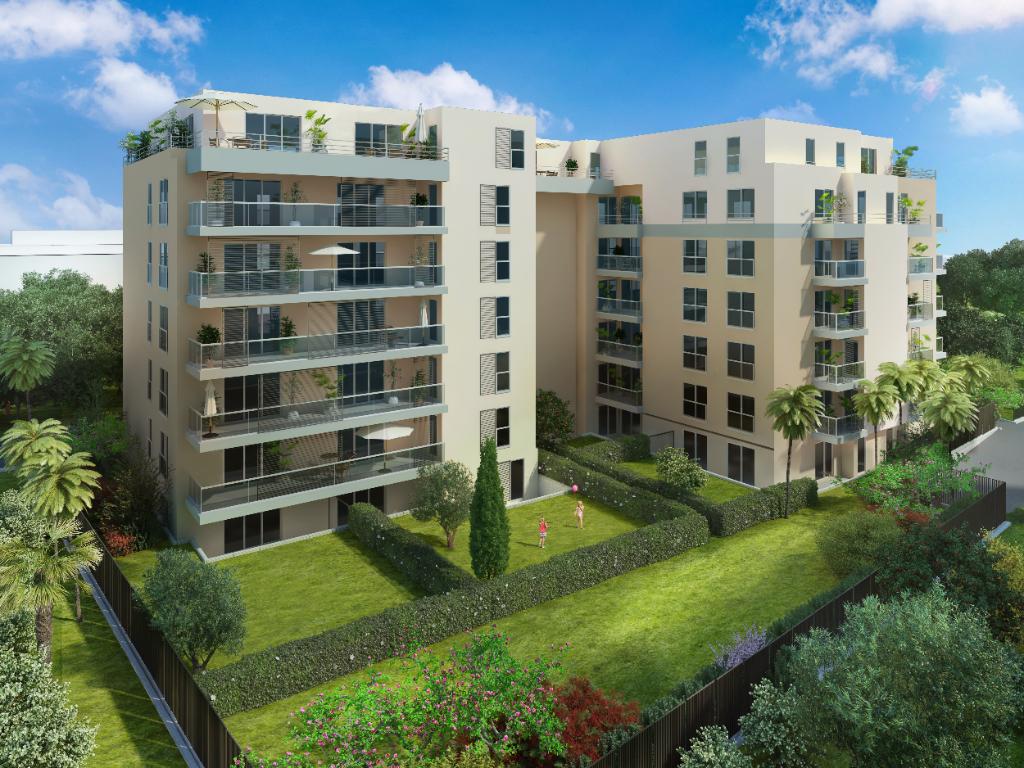Juan les Pins à pied des plages Appartement   3 pièce(s) 66,39 m2 + terrasse  + cave + parking