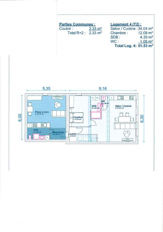 Appartement Belleville En Beaujolais 2 pièce(s) 51 m2