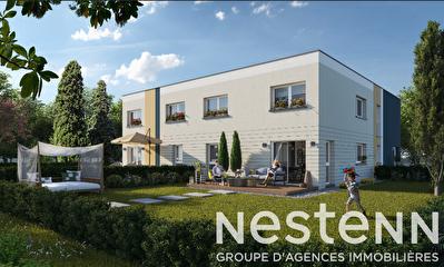 Appartement en duplex, neuf , 100 m2, 3 chambres, jardin, terrasse et garage