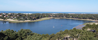Maison vue lac et mer Hossegor